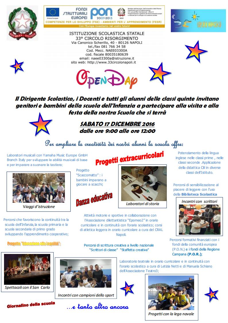 Open day a.s. 2016/2017