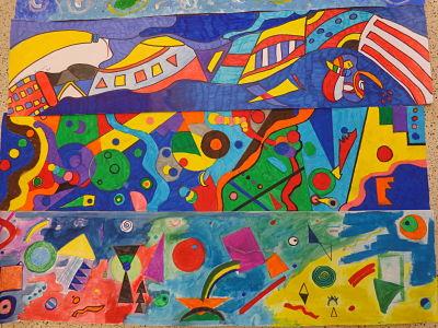 "L'arte a scuola: ""Il blu""  di  Kandinskij"