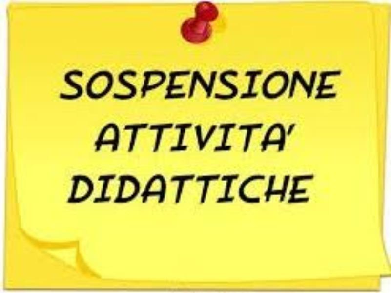 VACANZE PASQUALI - SOSPENSIONE ATTIVITA' DIDATTICA