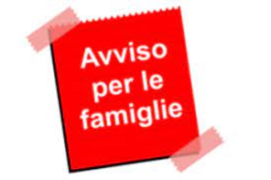 Avviso alle famiglie