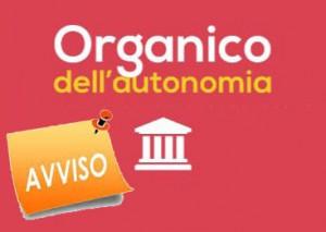 AVVISO di disponibilità di posti nell'Organico dell'Autonomia
